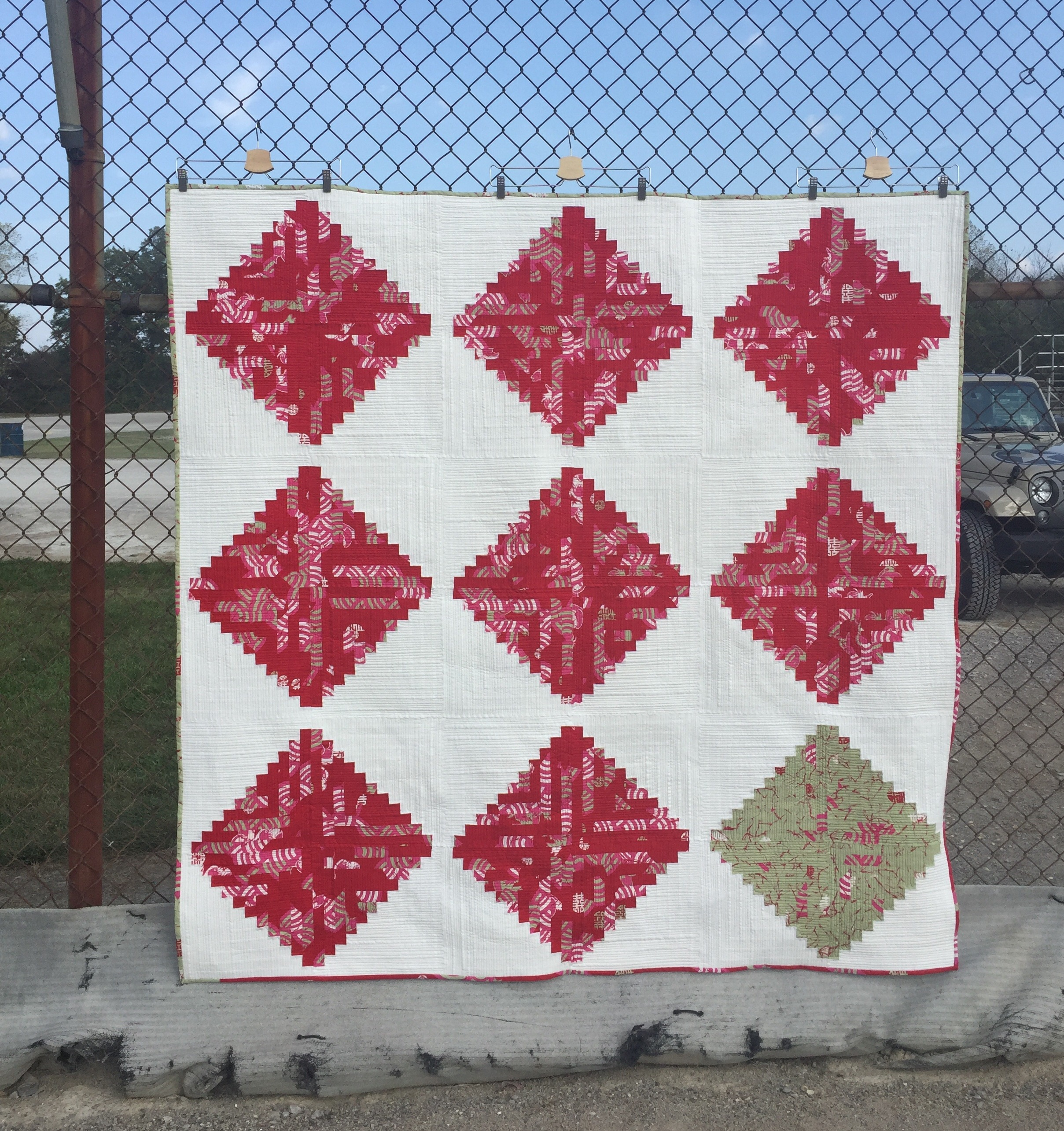 Finally Friday ~ Log Cabin Quilt! | KatyQuilts : what is quilt used for - Adamdwight.com